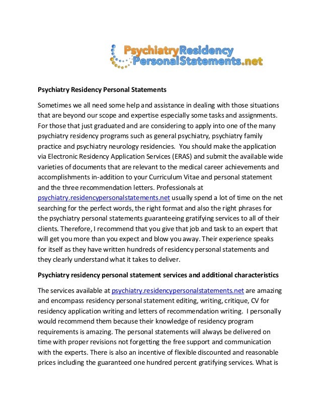 residency personal statement medicine pediatrics Writing residency personal statements • residency statement is a barely updated version of the medical/dentistry school application essay.