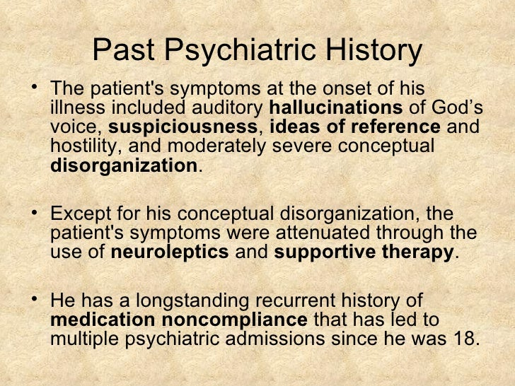psychiatric patient case studies A case study of obsessive-compulsive disorder: some diagnostic considerations jefferson journal of psychiatry by an authorized administrator of the jefferson digital commons the following case study is an example of a patient with.