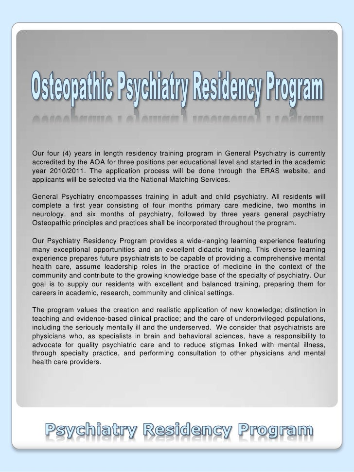 Psychiatry Residency Personal Statement Help