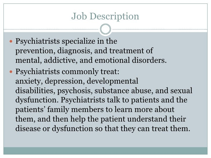 Psychiatry Slideshow