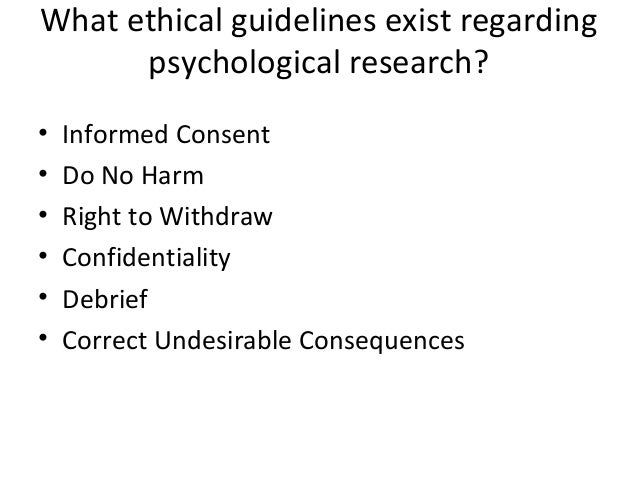goals of ethical guidelines for psychological research