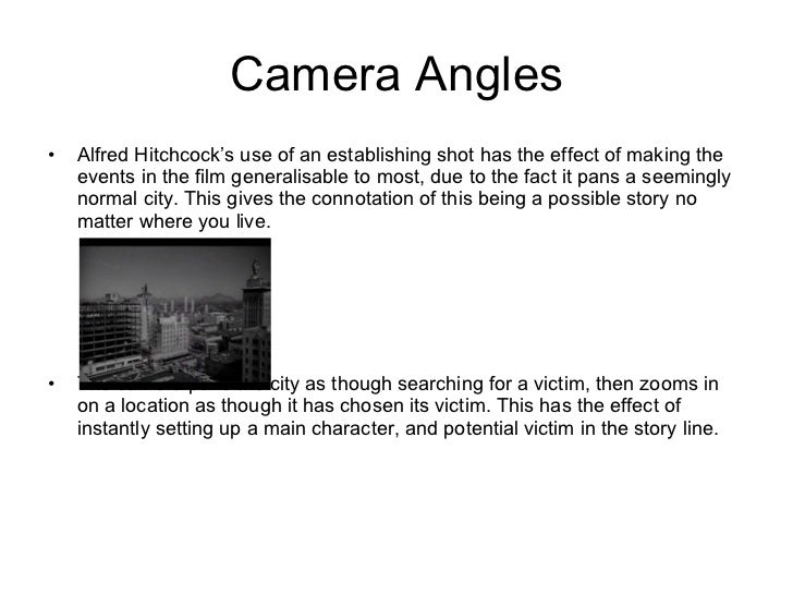 Themes and plot devices in Hitchcock films