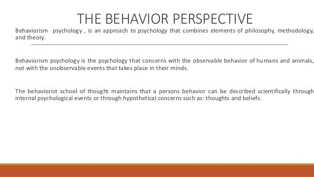 behavioural perspectives of mental health Black report chapter 6 explanation of health inequalities:  iv cultural/behavioural  implications for mental and physical health and criminal.