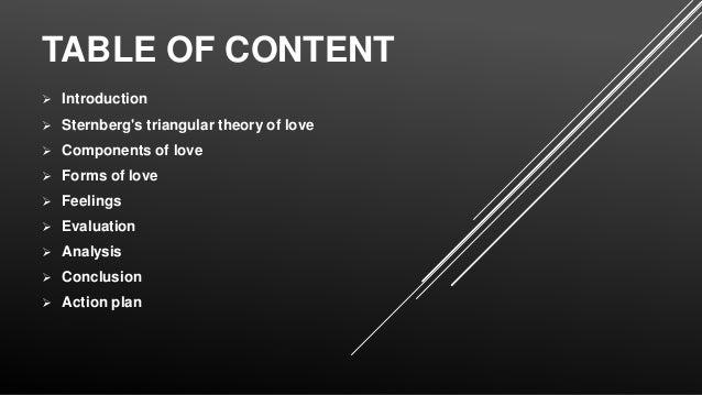 MONICA: Robert sternberg triarchic theory of love
