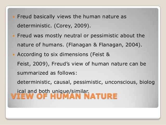 Deterministic View Of Human Nature