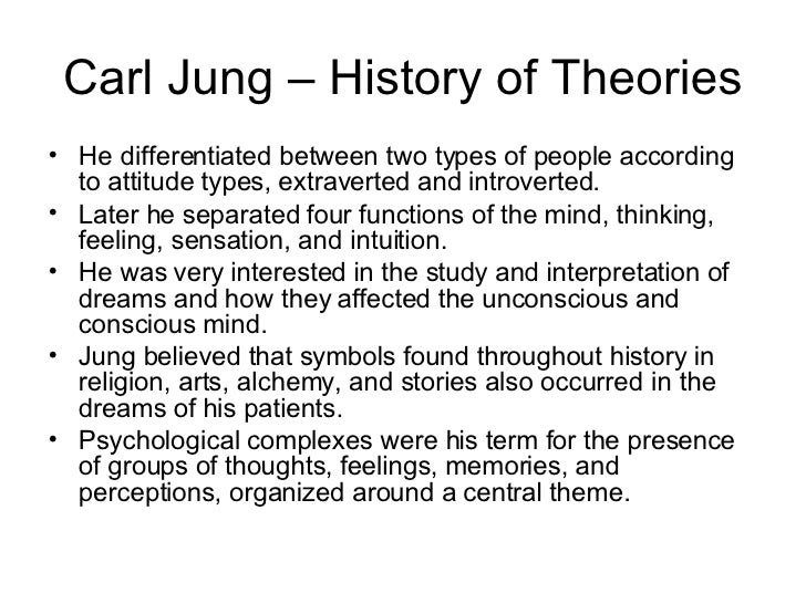 an analysis of the topic of the discussion by carl jung Carl jung's theory concerning personality types this essay will give an introduction to carl jung and what started his research, the essay will discuss carls jung's personality types and their characteristics and will also discuss the myers briggs type indicator.