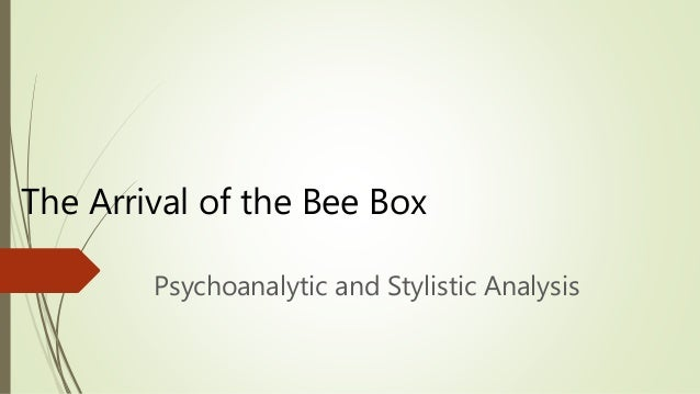 the arrival of the bee box sylvia plath analysis