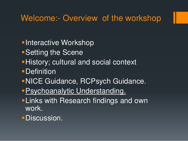 a discussion of understanding your own self In your discussion, you will want to make it clear what theoretical perspectives and research findings are influencing your answer prejudice has traditionally been assumed to be the product of some form of malice, brought about by social or emotional forces.