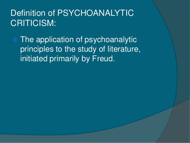 psychoanalytic criticism Psychoanalytic criticism has 11 ratings and 3 reviews the awdude said:  elizabeth wright all but achieves, in a thousand less pages than a norton antholo.