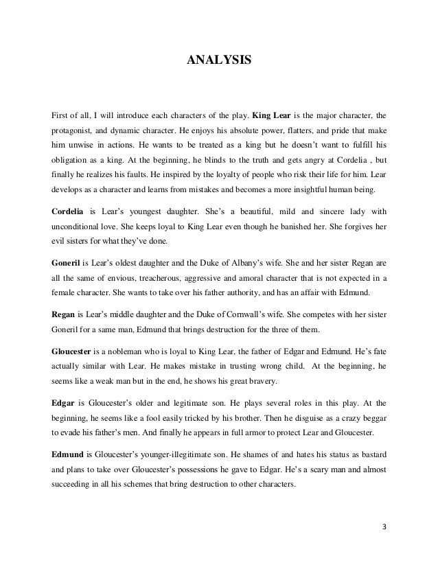 a character analysis of edmund in king lear by william shakespeare Of the role of edmund in the 2009 unl production of william shakespeare's king   all shakespearean quotations from king lear are from mowat, brabara a,.