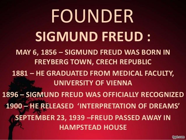sigmund freud theory of motivation C george boeree: personality theories sigmund freud for jews, especially ones as famous as freud not long afterward, he died of the cancer of the mouth and jaw.
