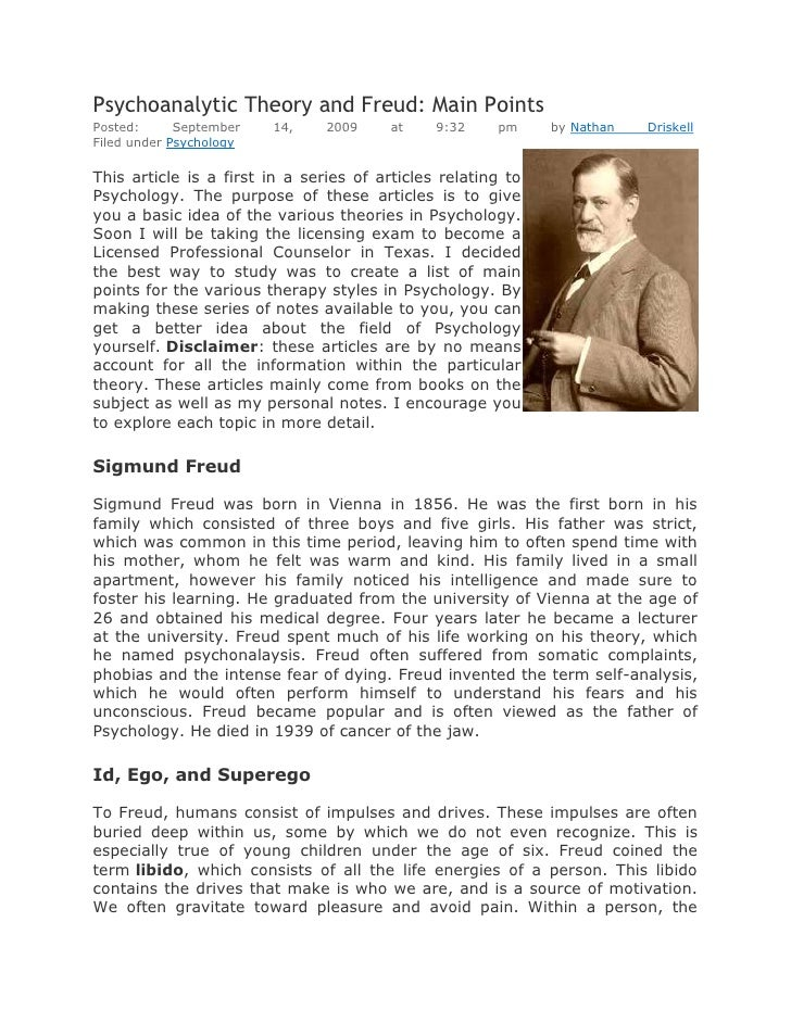 psychoanalytic theory and freud psychoanalytic theory and freud main pointsposted 14