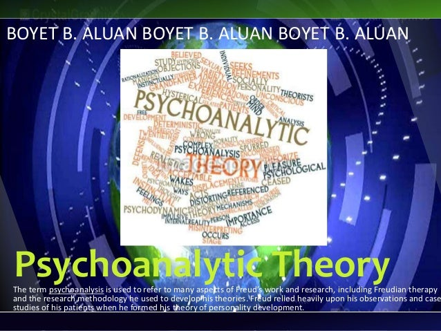 Psychoanalytic TheoryThe term psychoanalysis is used to refer to many aspects of Freud's work and research, including Freu...