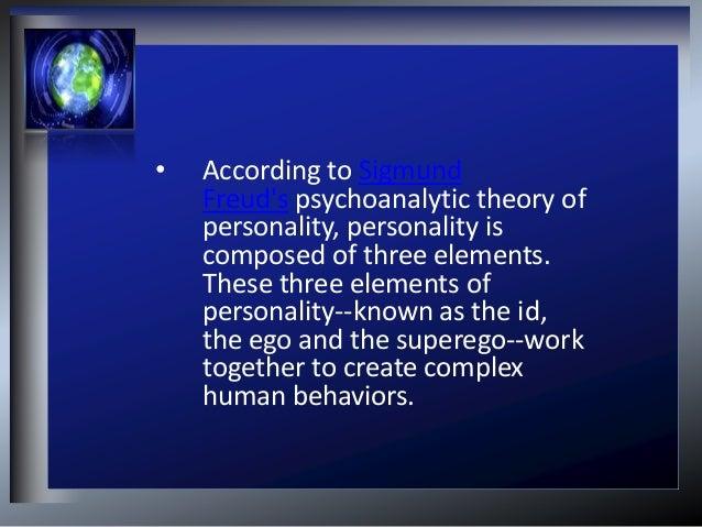 Psychoanalytic theory ...