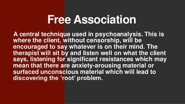 Free association method psychoanalysis and sexuality