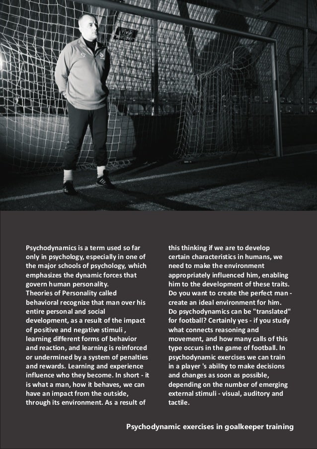 Psychodynamic exercises in goalkeeper training Marek Dragosz Slide 2