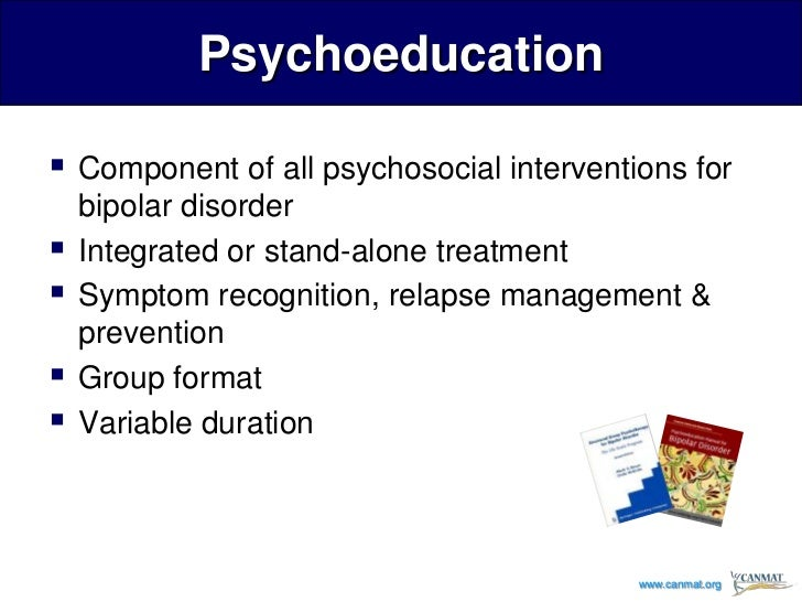 Psychoeducation or Cognitive Behavioural Therapy for Bipolar Disorder