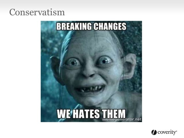 Conservatism • C# app developers also hate breaking their users • Facilitating versionable components was a pri 1 design g...