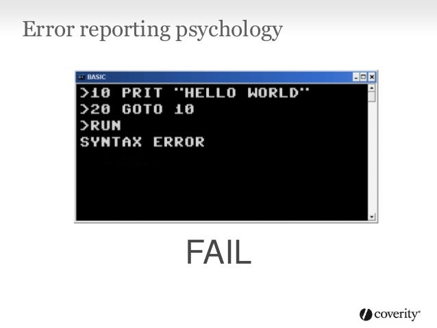 Error reporting psychology