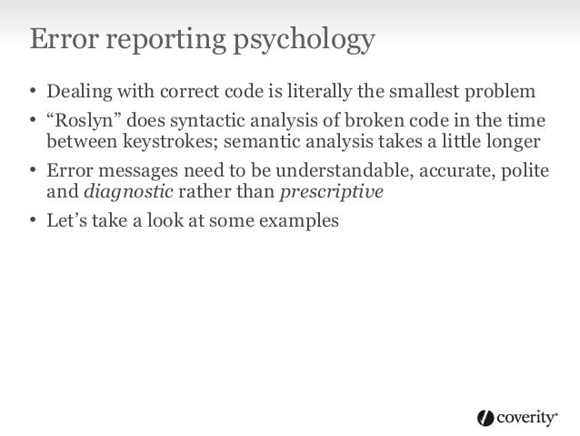 Error reporting psychology A params parameter must be the last parameter in a formal parameter list Is this saying: • If t...