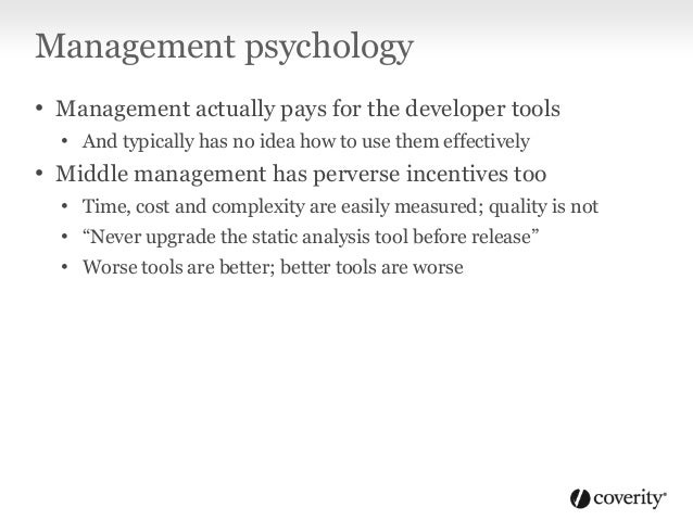 Worse is better; better is worse KnownDefects Time No tool improvements == Management gets bonus Tool upgrades find more d...