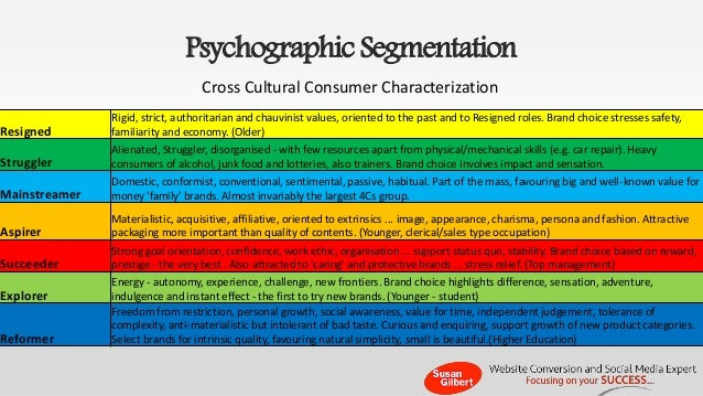 sport drinks psychographic segmentation