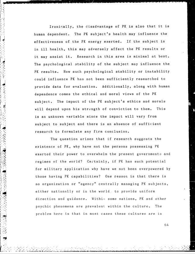 Psychokinesis research paper