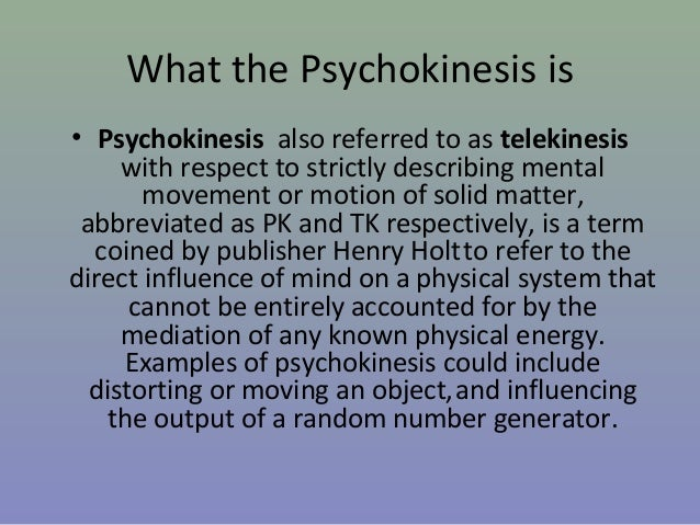 psychokinesis essay