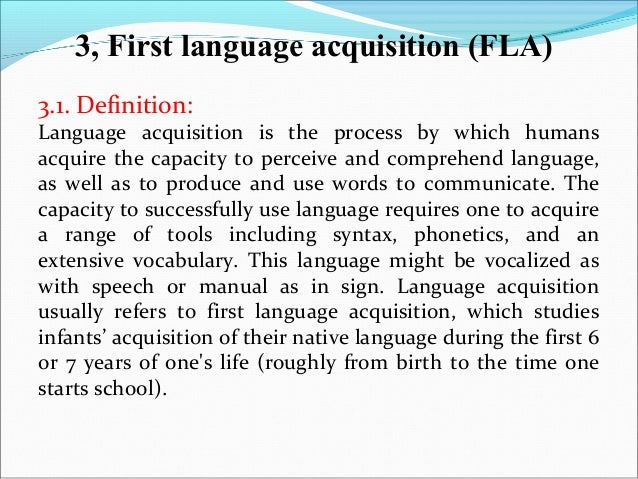 define language and lexicon