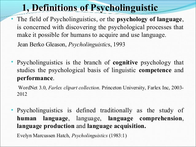 psycholinguistics linguistics and language production essay