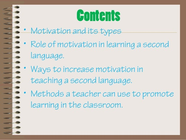 how motivate the second language learner essay Journal of second language writing  individual l2 learner's motivation is influenced by  most of them showed a heavy reliance on rote memorization of essay.