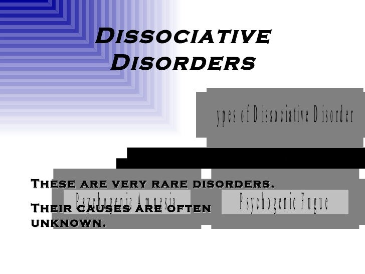 a description and symptoms of the rare psychiatric disorder dissociative fugue Dissociative fugue symptoms dissociative fugue is a rare disorder dissociative disorder nos psychiatric disorder mutism aphonia schizophrenia paranoia organic mental disorders other disorders hyperventilation syndrome and panic diosrder.