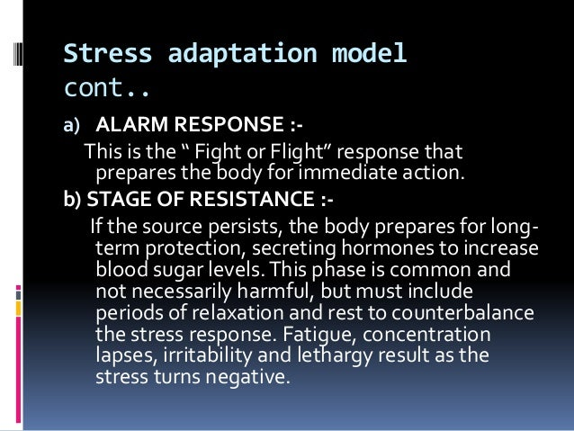 psychological adaptation to stress A middle-range theory of psychological adaptation in caregiver stress: tsai psychological adaptation in death and dying.
