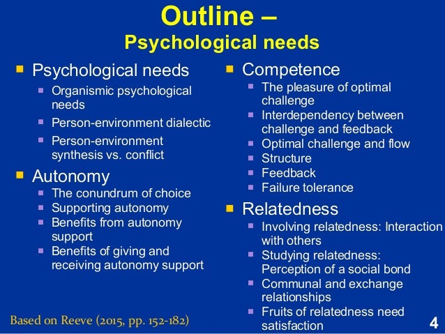psychogenic needs This is the list of 'psychogenic' needs identified in explorations in personality, edited by henry a murray in 1938 they are divided into five groups they are divided into five groups ambition needs.