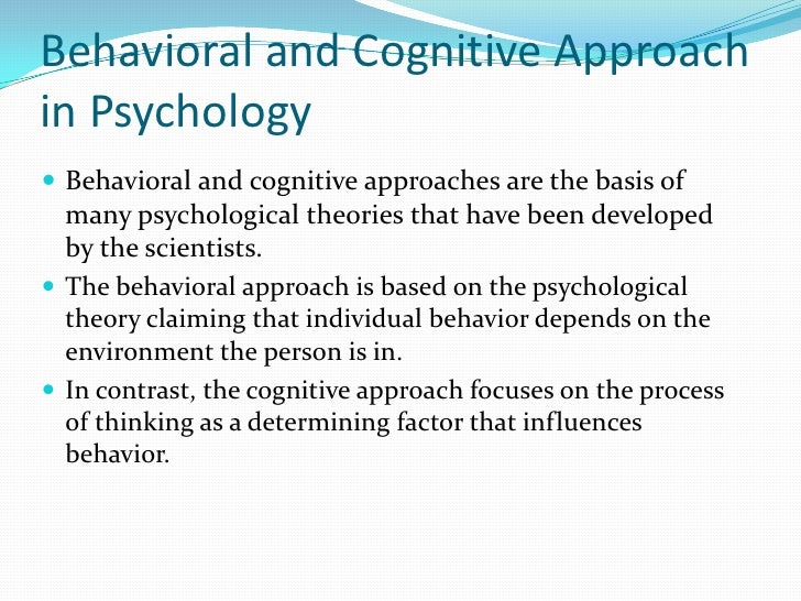 Behaviorism cognitive and humanistic