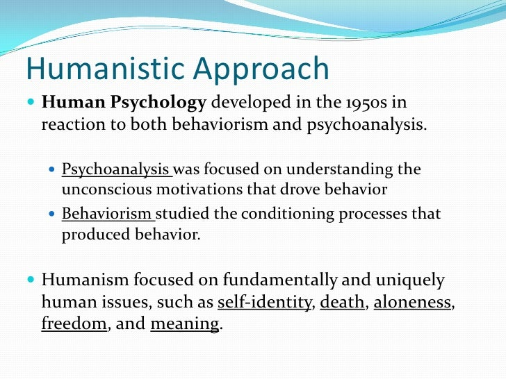 psychology behaviourist approach Free essay: describe and evaluate the behaviourist approach the basic assumption of the behaviourist approach is that all behaviour is learned through.