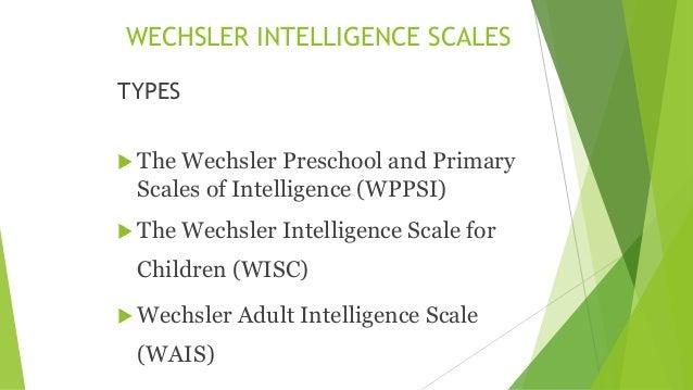 intelligence scales