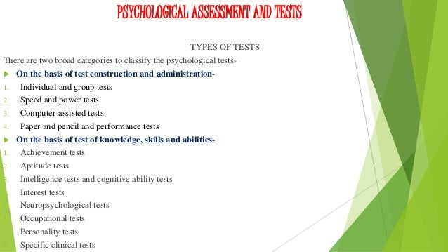 personality assessment 1 personality testing and Candidates often answer personality tests by choosing answers they believe  employers want to hear this can make test results difficult to.