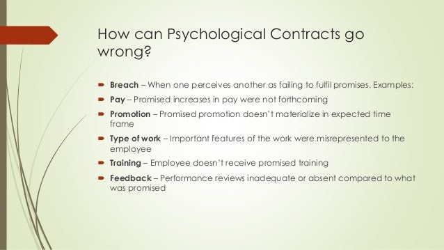 Psychological Contract Human Resources