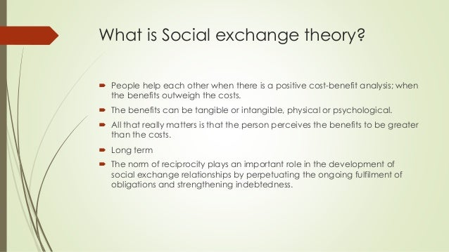 Is social exchange theory compatible with