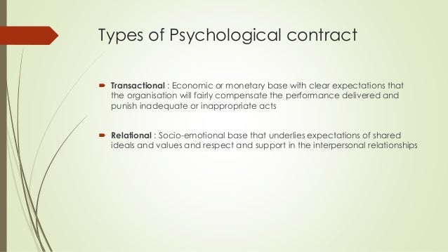 psychological contracts thesis