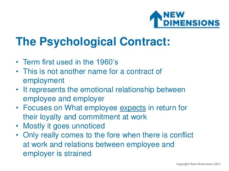Psychological Contract Presentation