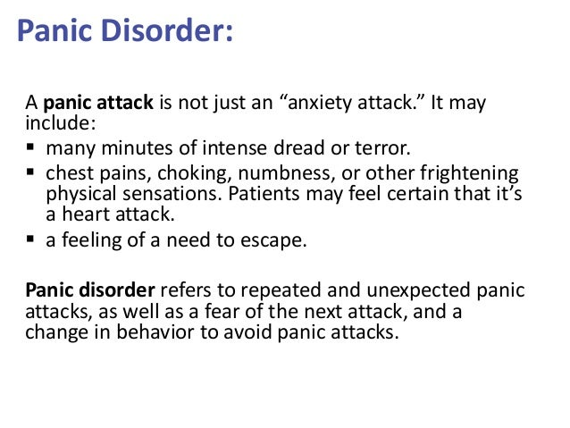 panic disorder research paper Current trends in clinical research on panic attacks, agoraphobia, and related anxiety disorders this paper reviews the evidence in favor of this diagnostic.