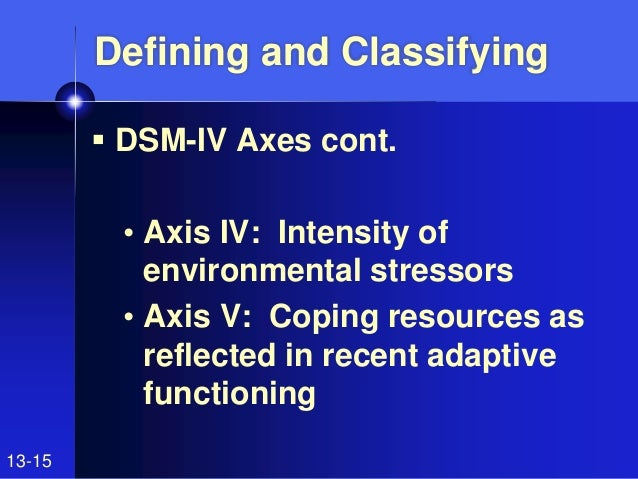psy 270 dsm iv problems Checkpoint: dsm-iv problems resource: appendix g complete appendix g post your answers as an attachment.