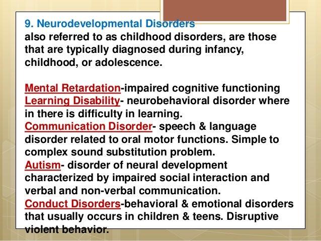 list of psychological disorders pdf