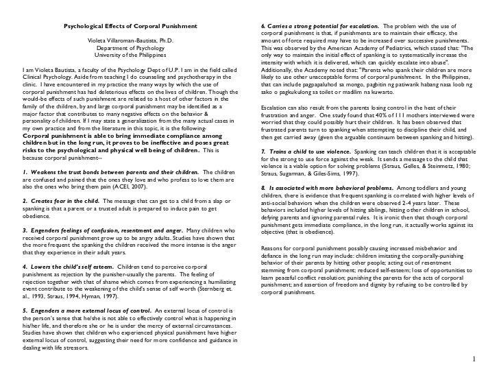 Essays On Corporal Punishment