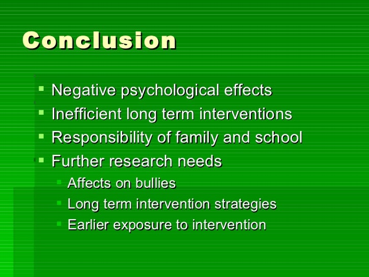 the psychological effects of bullying Long-term effects of bullying: exploring the relationships among recalled experiences with  psychological association annual convention, san francisco, ca.