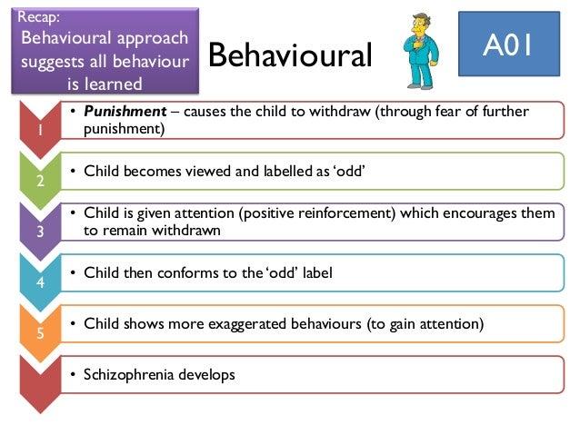 Behavioural explanations of schizophrenia