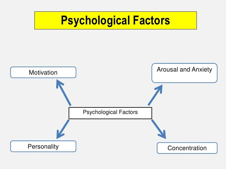 Psychological Factors<br />Arousal and Anxiety <br />Motivation<br />Psychological Factors<br />Personality<br />Concentra...