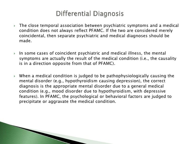 Psychological Factors Affecting Medical Condition